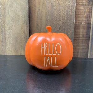 Rae Dunn Orange Hello Fall Pumpkin Small NEW